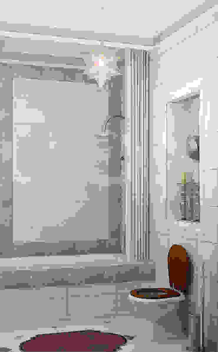 Квартира <q>Райские птицы</q> Ванная комната в эклектичном стиле от ЙОХ architects Эклектичный