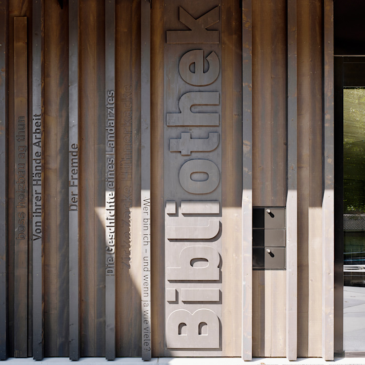 Bibliothek Ludothek Verwaltung Spiez I Schweiz bauzeit architekten