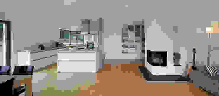 Einfamilienhaus D, Wasbüttel bei Gifhorn Moderne Wohnzimmer von gondesen architekt Modern