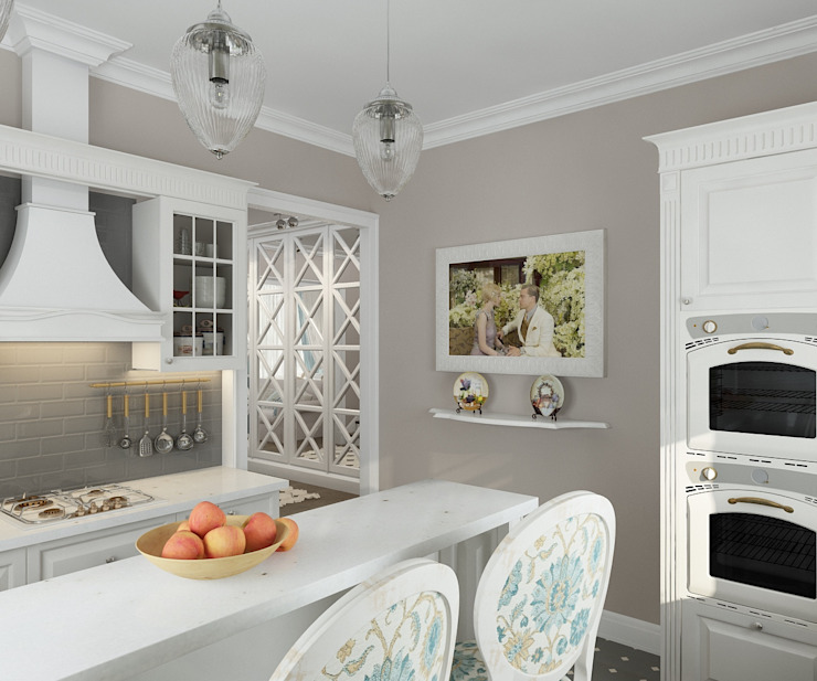 коттежд Кухня в стиле кантри от The Аrt of interior from Olga Kalinina Кантри