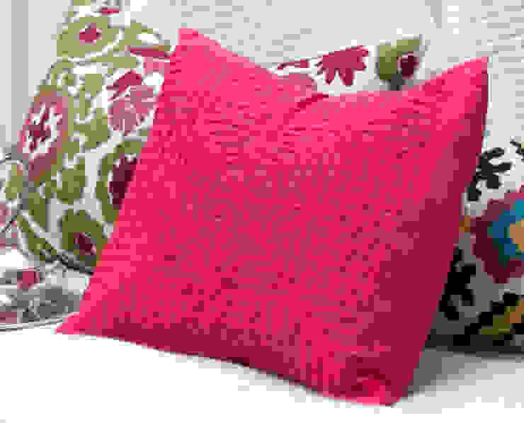 Red Applique Cotton Pillow : asian  by DesignRaaga, Asian