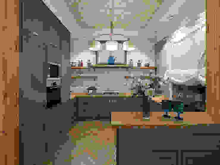 """Коттедж """"Голубое озеро"""" Кухни в эклектичном стиле от ЙОХ architects Эклектичный"""