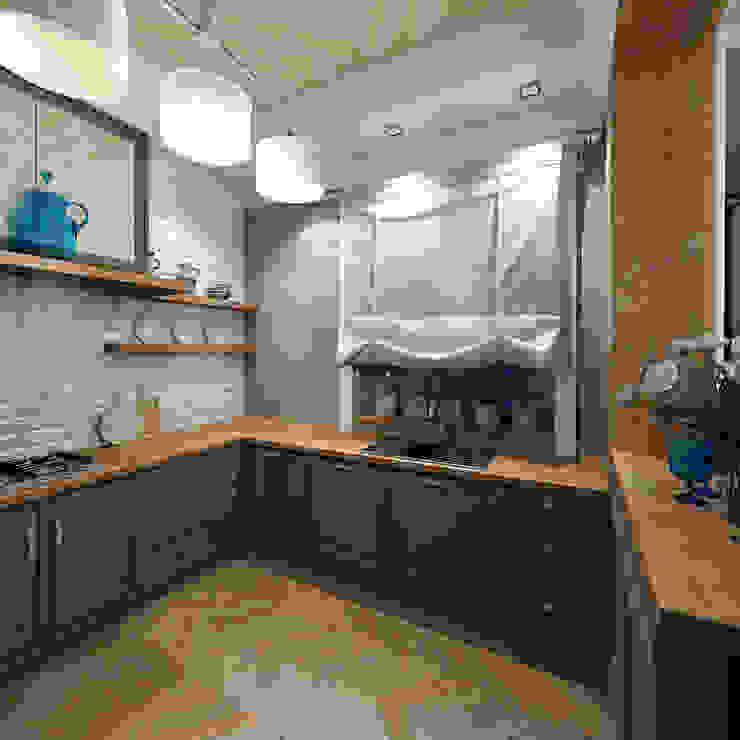 Коттедж <q>Голубое озеро</q> Кухни в эклектичном стиле от ЙОХ architects Эклектичный