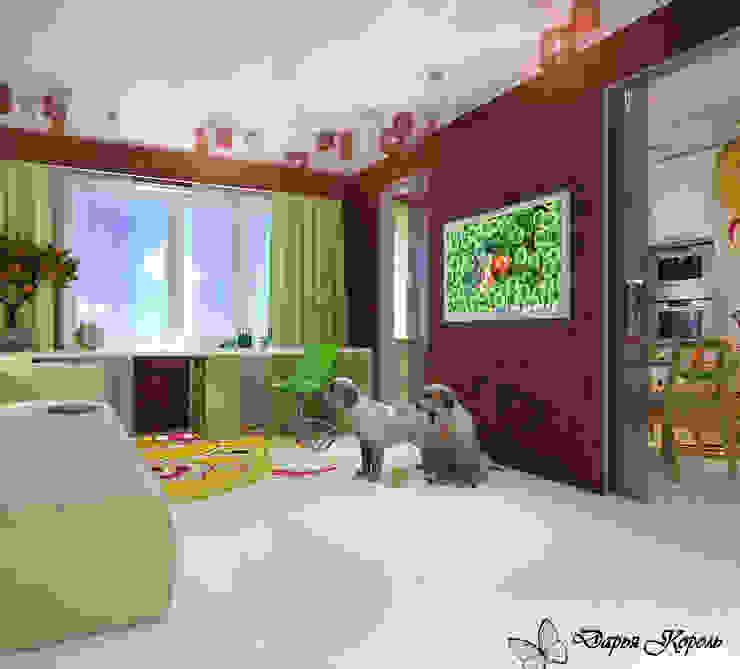 Apartment in paisley. Kitchen, living room, hallway Гостиная в стиле минимализм от Your royal design Минимализм