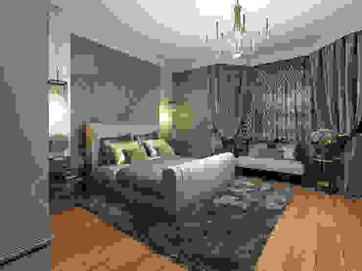 Коттедж <q>Голубое озеро</q> Спальня в эклектичном стиле от ЙОХ architects Эклектичный