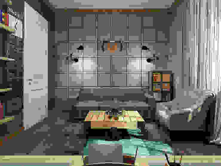 Коттедж <q>Голубое озеро</q> Рабочий кабинет в эклектичном стиле от ЙОХ architects Эклектичный