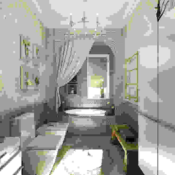 Коттедж <q>Голубое озеро</q> Ванная комната в эклектичном стиле от ЙОХ architects Эклектичный