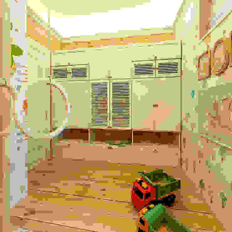 Коттедж <q>Голубое озеро</q> Детские комната в эклектичном стиле от ЙОХ architects Эклектичный