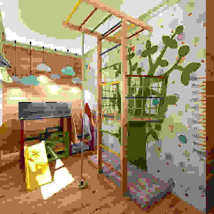 """Коттедж """"Голубое озеро"""": Детские комнаты в . Автор – ЙОХ architects"""