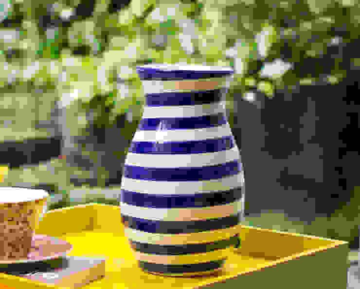 Talavera Vase Blue Stripe: modern  by DesignRaaga, Modern