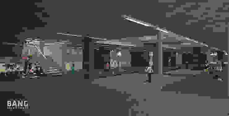 Pasillo planta baja de BANG arquitectura