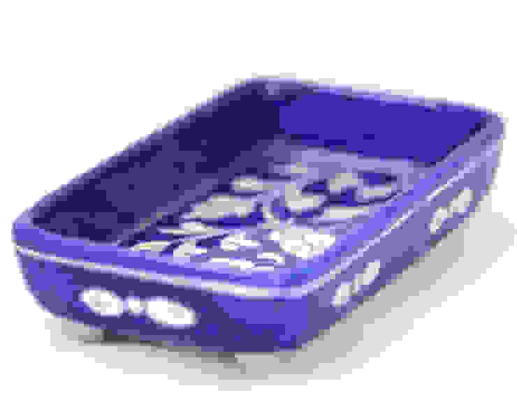 Mini Tray Floral Blue: asian  by DesignRaaga, Asian