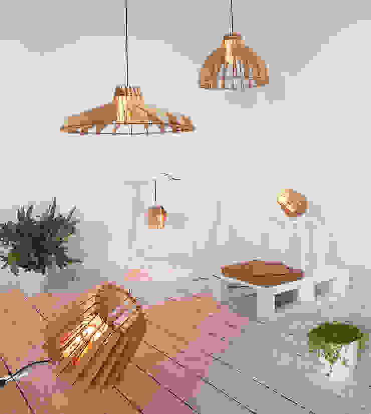 Alle Laser-cut Lamps in één beeld.: modern  door Van Tjalle en Jasper, Modern
