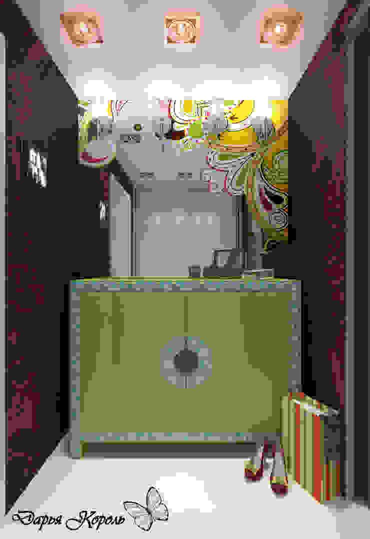 Apartment in paisley. Kitchen, living room, hallway Коридор, прихожая и лестница в стиле минимализм от Your royal design Минимализм
