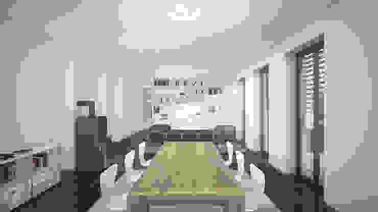 RTW Architekten Ruang Makan Modern
