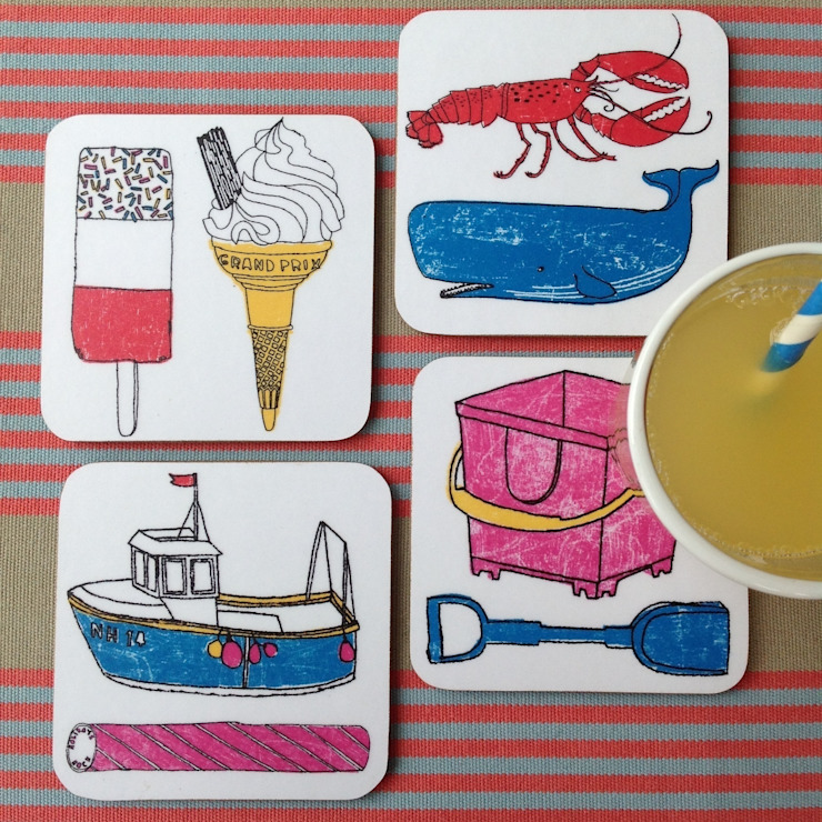 Seaside Fun Coasters: modern  by New House Textiles Ltd, Modern