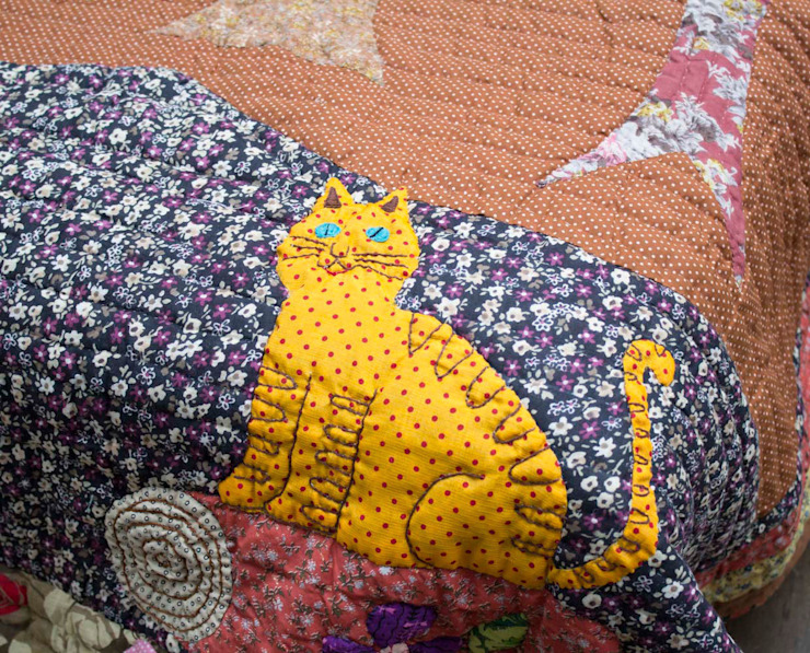 Patchwork Quilt Animals: asian  by DesignRaaga, Asian