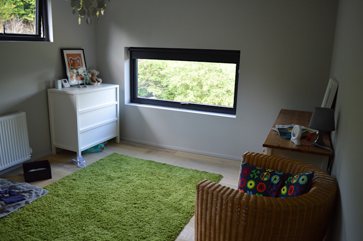 Nursery Room with Feature Window in Renovated 1960s Property Modern style bedroom by ArchitectureLIVE Modern