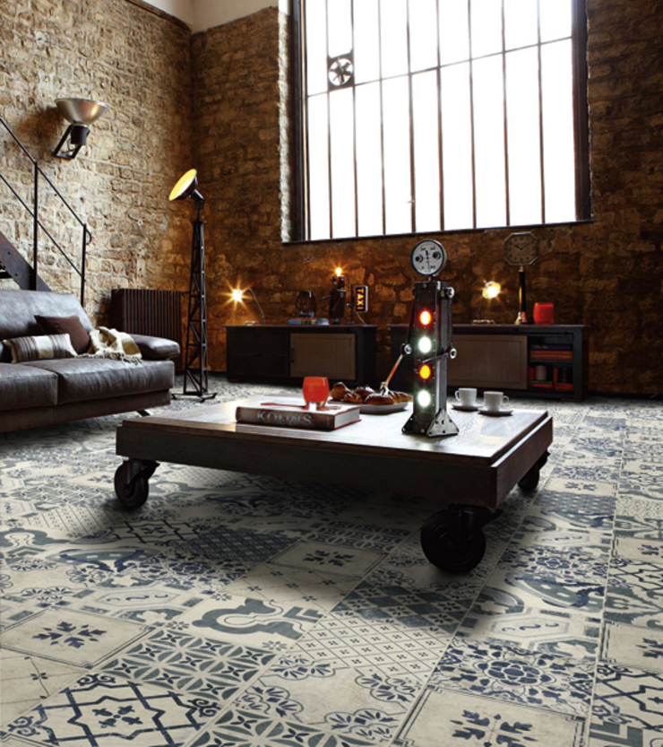 Milano - Pavimento Antiqua Salones rústicos de estilo rústico de INTERAZULEJO Rústico