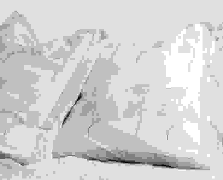 Hand Block Print Cushion Blue Floral: asian  by DesignRaaga, Asian