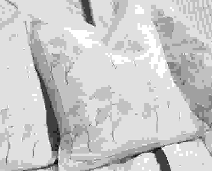 Hand Block Print Pillow Black Floral: asian  by DesignRaaga, Asian