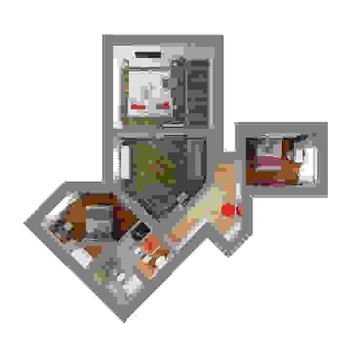План квартиры Стены и пол в стиле лофт от Универсальная история Лофт