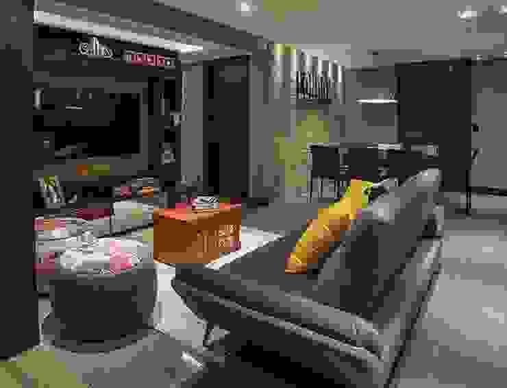 apartamento residencial Salas de estar modernas por Adriane Cesa Arquitetura Moderno