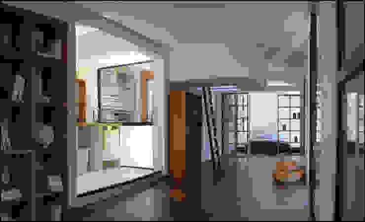 intérieur drophouse 02 Salon moderne par D3 architectes Moderne