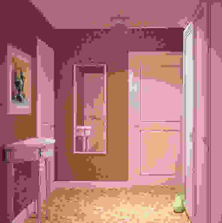 Прихожая в стиле Французский прованс Коридор, прихожая и лестница в стиле кантри от Универсальная история Кантри