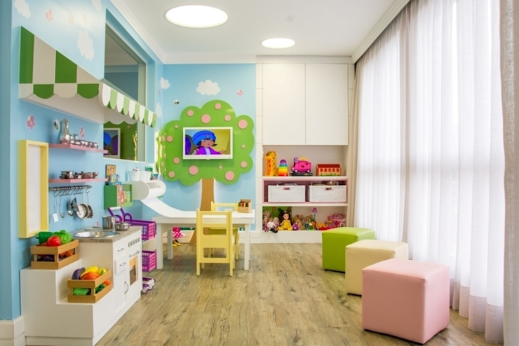 Nursery/kid's room by Carolina Burin Arquitetura Ltda, Modern