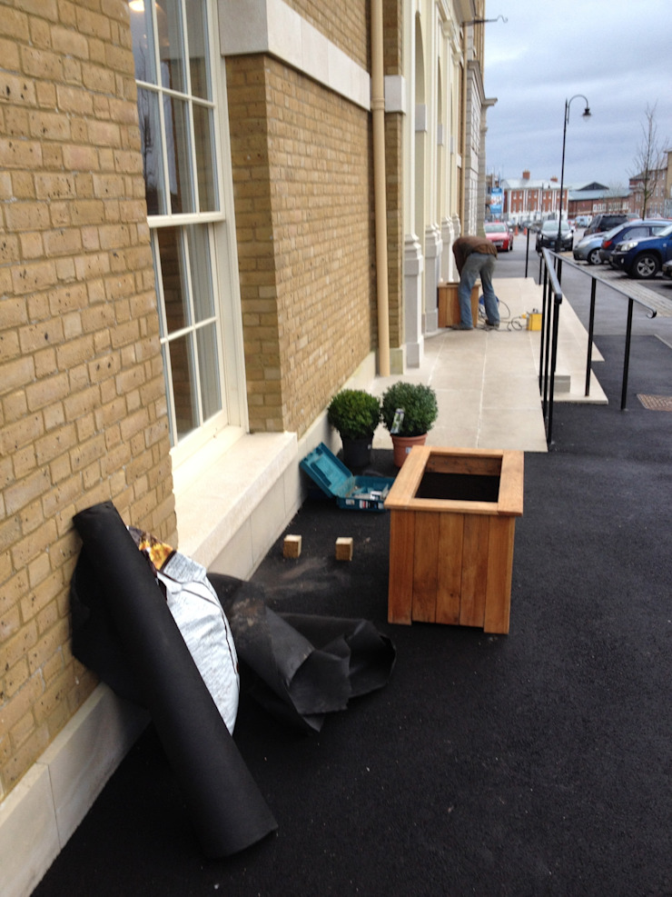 Brace of Butchers—Planters installation. by The Dorset Planter Co.