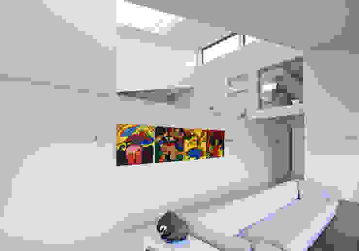 woonkamer - doorkijk Moderne woonkamers van Sax Architecten Modern
