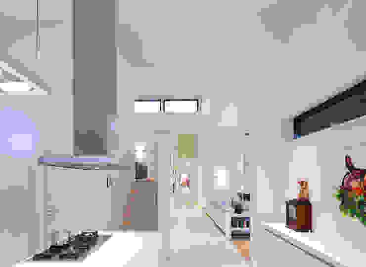 keuken - woonkamer Moderne woonkamers van Sax Architecten Modern