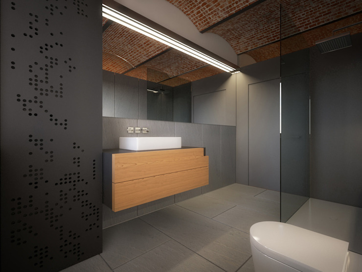 Salle de bain minimaliste par POINT. ARCHITECTS Minimaliste