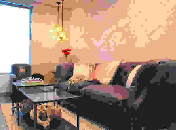 Bespoke Dubai Map Wallpaper Modern living room by Wallpapered Modern