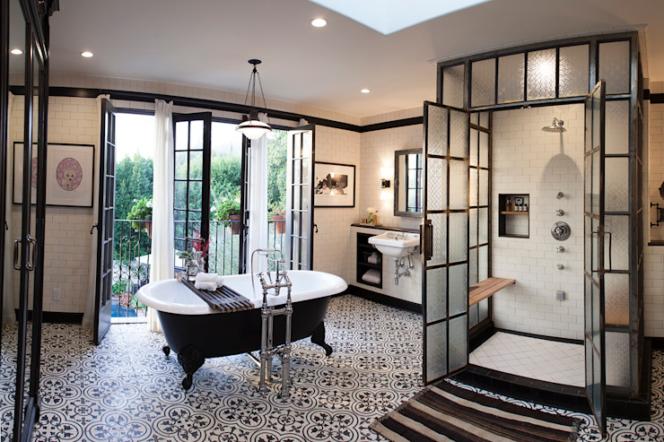 Drummonds Case Study: Loz Feliz Retreat, California Drummonds Bathrooms BathroomBathtubs & showers