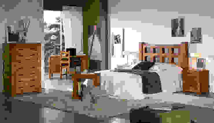Dormitorio de mueble rústico de Decorustico Internet Rústico