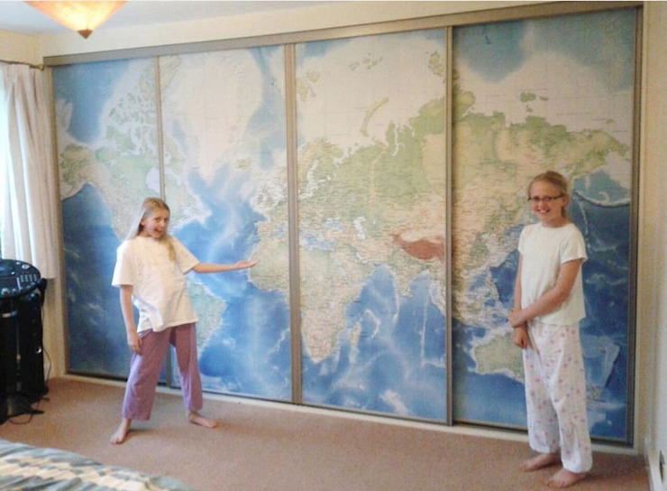 Standard World Map di Wallpapered Classico