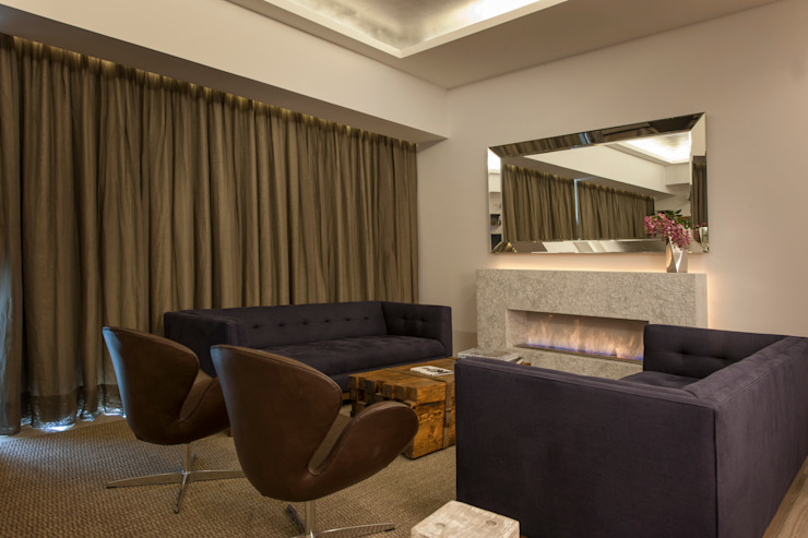 Departamento GC Salas de estilo moderno de kababie arquitectos Moderno