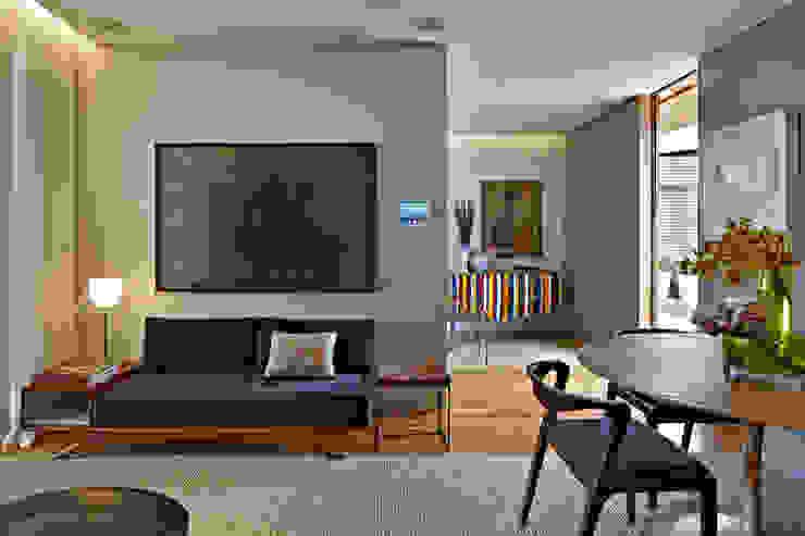 Salas / recibidores de estilo  por Nara Cunha Arquitetura e Interiores, Ecléctico