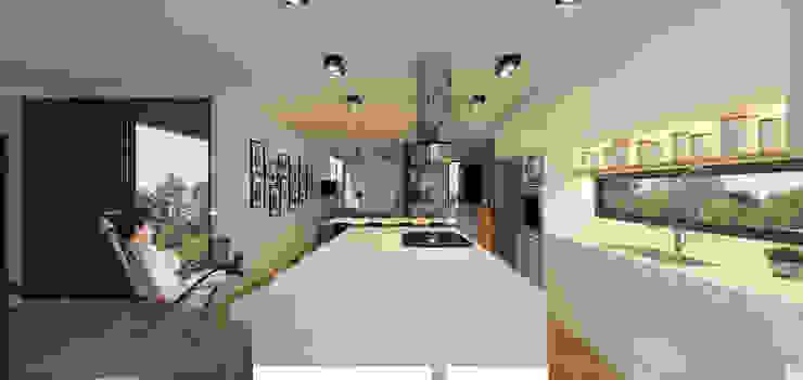 Casa Contêiner Cozinhas modernas por K+S arquitetos associados Moderno
