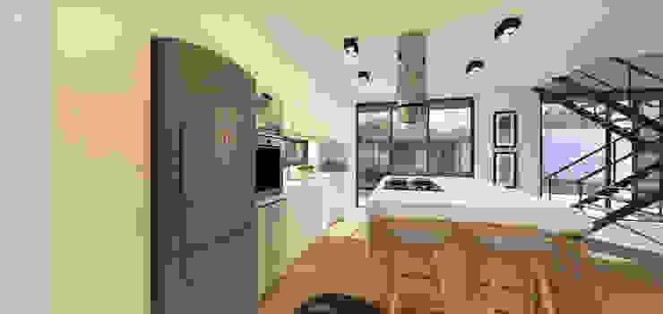 Casa Contêiner: Cozinhas  por K+S arquitetos associados