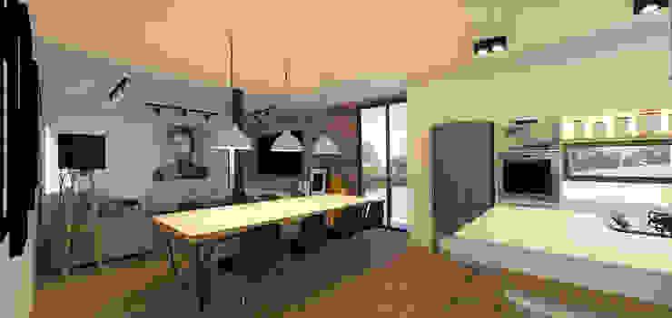 Casa Contêiner Salas de jantar modernas por K+S arquitetos associados Moderno