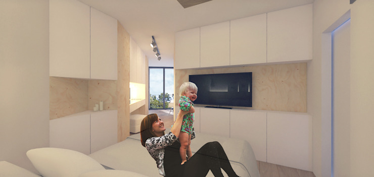 Casa Contêiner Quartos minimalistas por K+S arquitetos associados Minimalista