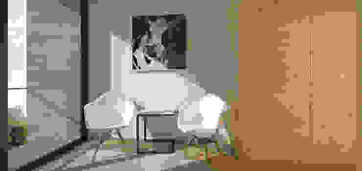 Casa Contêiner Corredores, halls e escadas minimalistas por K+S arquitetos associados Minimalista