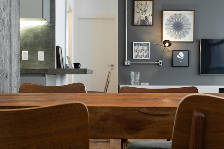 PM Arquitetura Industrial style dining room