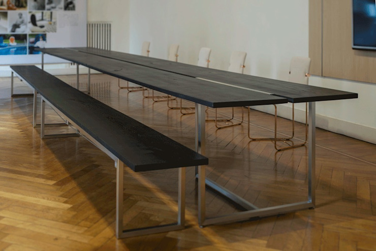 Eettafel model T3456 Industriële eetkamers van GHYCZY Industrieel