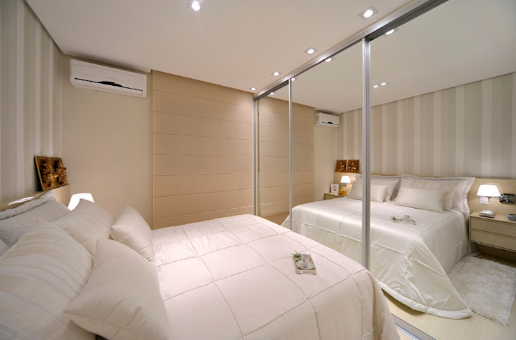 Apartamento integrado em Londrina Quartos rústicos por Evviva Bertolini Rústico