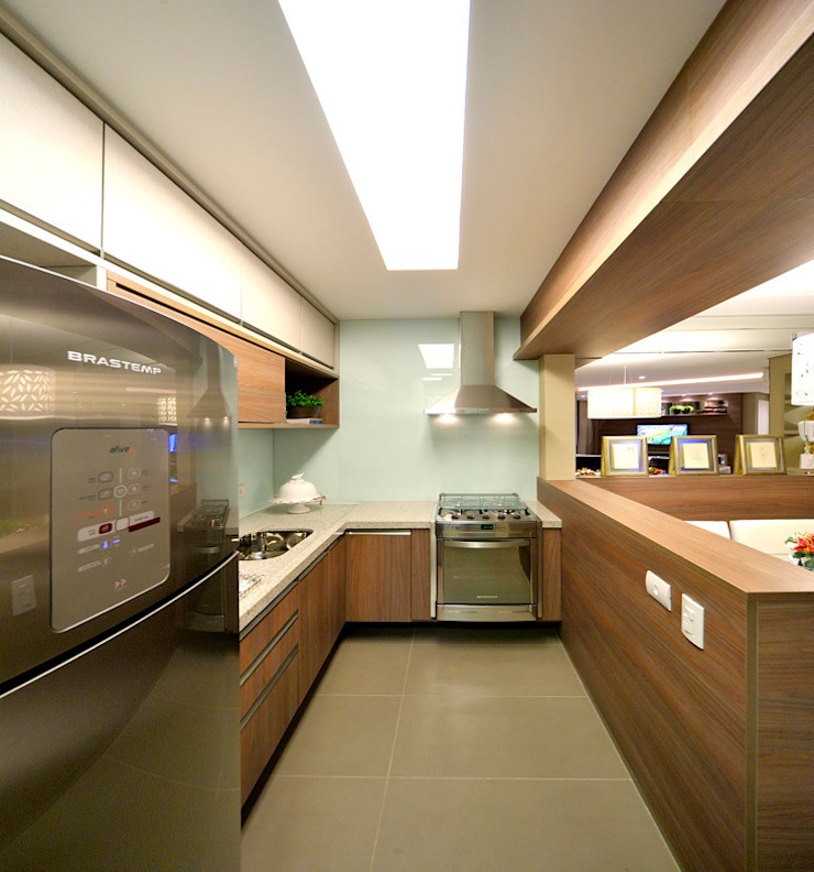 Apartamento integrado em Londrina Cozinhas rústicas por Evviva Bertolini Rústico