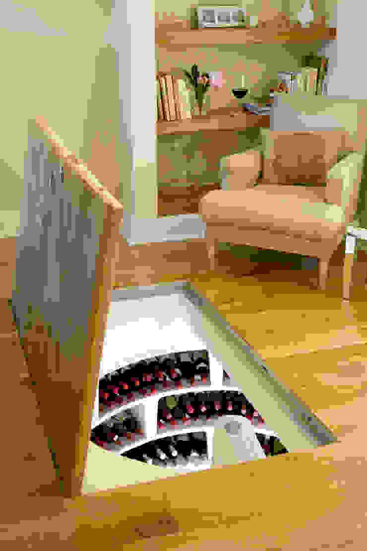 Spiral Cellar with Recessed Trap Door Rustic style wine cellar by Spiral Cellars Rustic